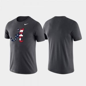 For Men's Americana Legend Performance Anthracite Alabama Crimson Tide T-Shirt