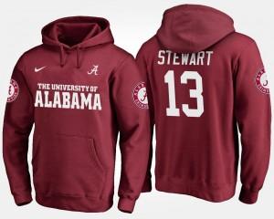 Name and Number ArDarius Stewart Alabama Crimson Tide Hoodie Crimson For Men #13