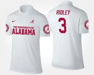#3 Calvin Ridley Alabama Polo White Name and Number Men