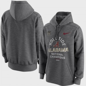 Alabama Hoodie Bowl Game Charcoal Men's College Football Playoff 2017 National Champions Celebration Victory