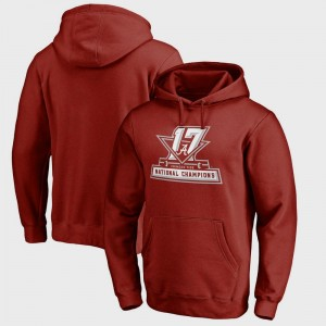 College Football Playoff 2017 National Champions Official Crimson Bowl Game Men's Bama Hoodie