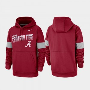 Crimson Alabama Crimson Tide Hoodie Men's Performance Pullover Nike
