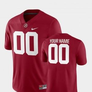 University of Alabama Customized Jerseys #00 College Football 2018 Game Nike Crimson For Men's