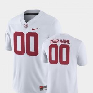 For Men College Football 2018 Game Nike Bama Custom Jersey #00 White