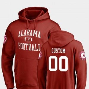 Crimson Bama Customized Hoodie Fanatics Branded College Football Men's #00 Neutral Zone