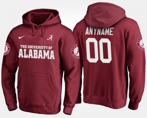 Alabama Custom Hoodie Men #00 Name and Number Crimson