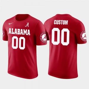 Red #00 Future Stars Cotton Football For Men's University of Alabama Customized T-Shirt