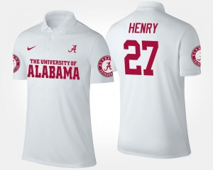 #27 Name and Number For Men's Derrick Henry Bama Polo White