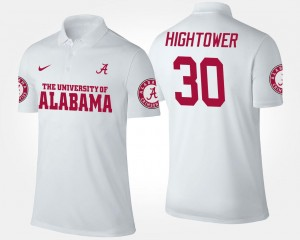 #30 Dont'a Hightower Bama Polo White Mens Name and Number