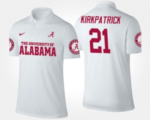 White Name and Number Dre Kirkpatrick University of Alabama Polo Mens #21