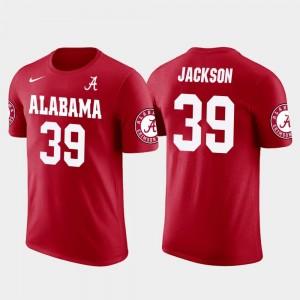 Eddie Jackson Bama T-Shirt Chicago Bears Football Future Stars #39 For Men Red