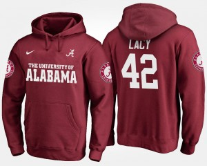 #42 Crimson Eddie Lacy Bama Hoodie Name and Number For Men