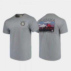 Gray Men Campus Scenery Bama T-Shirt Comfort Colors