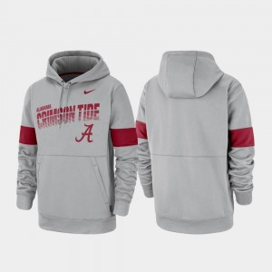 Gray Pullover Nike Men Performance Alabama Hoodie