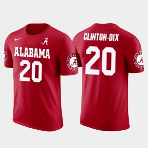 Men Red #20 Ha Ha Clinton-Dix Bama T-Shirt Washington skins Football Future Stars