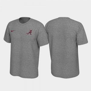 Legend Heathered Gray Bama T-Shirt Left Chest Logo Men