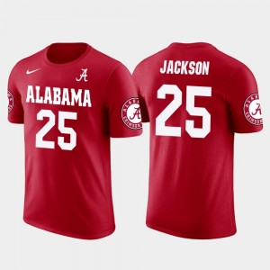 #25 Kareem Jackson Alabama Crimson Tide T-Shirt Houston Texans Football Mens Future Stars Red