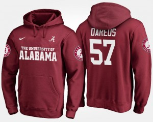 For Men Crimson Marcell Dareus Bama Hoodie #57 Name and Number