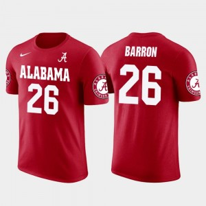 Mark Barron Bama T-Shirt Future Stars Men #26 Red Los Angeles Rams Football