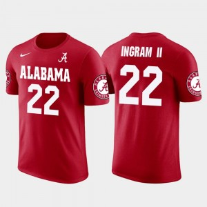 #22 Red Future Stars Mark Ingram University of Alabama T-Shirt New Orleans Saints Football Men