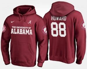 Crimson Men #88 Name and Number O.J. Howard Bama Hoodie