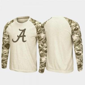 Bama T-Shirt OHT Military Appreciation Men's Oatmeal Raglan Long Sleeve Desert Camo
