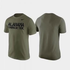 Olive Stencil Wordmark For Men Bama T-Shirt