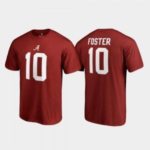 Reuben Foster Alabama Crimson Tide T-Shirt Crimson Name & Number #10 College Legends Men's