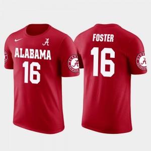 Buffalo Bills Football Future Stars Robert Foster Bama T-Shirt #16 Red Mens