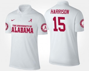 Ronnie Harrison University of Alabama Polo White Name and Number Men's #15
