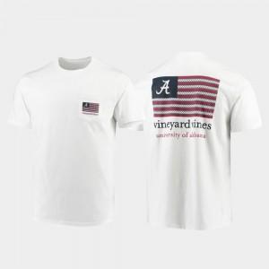Americana Flag Vineyard Vines University of Alabama T-Shirt For Men's White