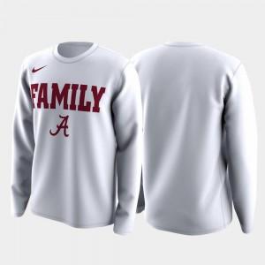 White March Madness Legend Basketball Long Sleeve Family on Court For Men Alabama Crimson Tide T-Shirt