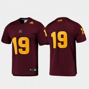 Arizona State University Jersey Football Maroon For Men Replica #19