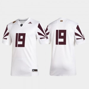 #19 For Men's Arizona State University Jersey 2019 Special Game Premier Football White