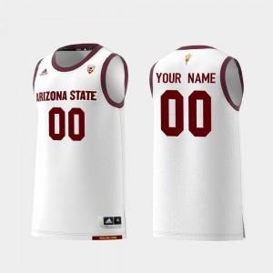 White Replica College Basketball Men's #00 Sun Devils Customized Jerseys