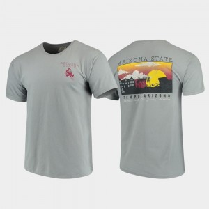 Campus Scenery Men's Arizona State Sun Devils T-Shirt Gray Comfort Colors