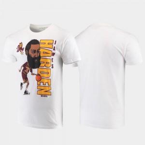 James Harden Sun Devils T-Shirt #13 For Men's Original Retro Brand College Alumni Basketball College Basketball White