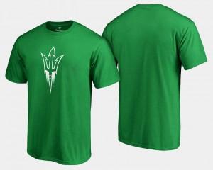 Mens White Logo Big & Tall Arizona State University T-Shirt St. Patrick's Day Kelly Green