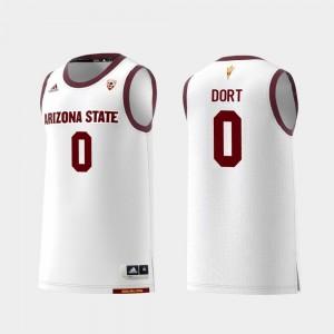 #0 Luguentz Dort Arizona State Jersey College Basketball White Men's Replica