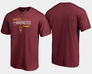 Sun Devils T-Shirt Maroon Basketball Tournament For Men 2018 March Madness Bound Airball