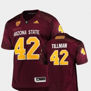#42 Game Pat Tillman Arizona State Jersey For Men Maroon Special Premier Adidas