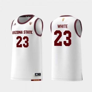 White Romello White Arizona State University Jersey College Basketball Men Replica #23