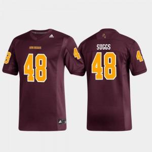 Alumni Football Adidas Replica #48 Maroon Mens Terrell Suggs Arizona State Jersey