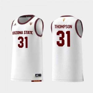 #31 Men Replica Trevor Thompson Arizona State Jersey White College Basketball