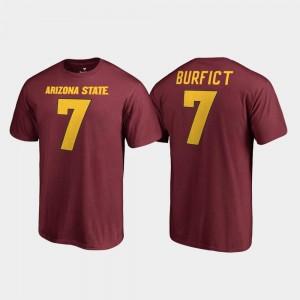 Men Maroon Vontaze Burfict Arizona State University T-Shirt #7 College Legends Name & Number