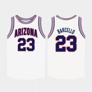 College Basketball Mens #23 White Alex Barcello Wildcats Jersey