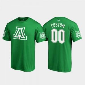 #00 Kelly Green Arizona Customized T-Shirt White Logo Fanatics Branded St. Patrick's Day Men's