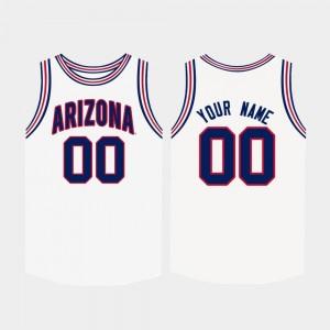 Men's College Basketball #00 White Arizona Custom Jerseys