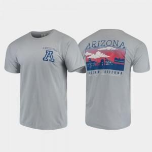 Men's Arizona T-Shirt Gray Campus Scenery Comfort Colors