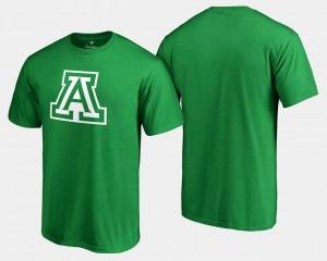 Kelly Green St. Patrick's Day University of Arizona T-Shirt White Logo Big & Tall Men
